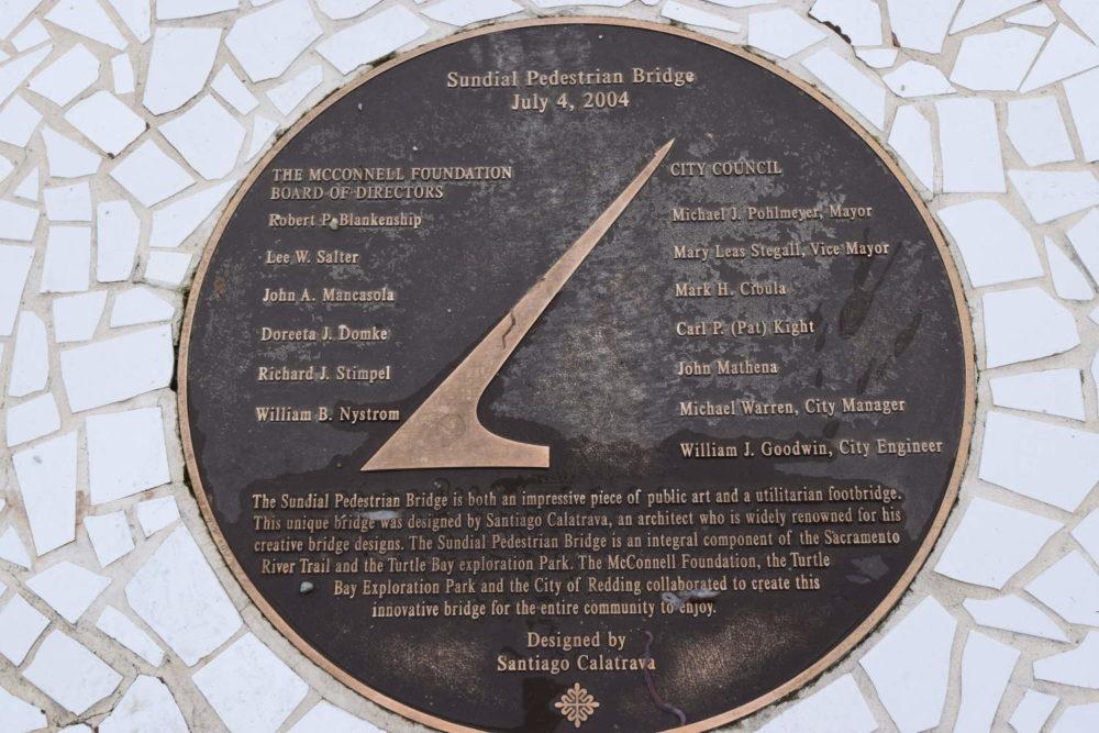 Sundial Bridge Plaque