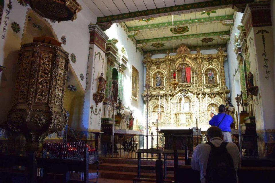 Inside Serra Chapel