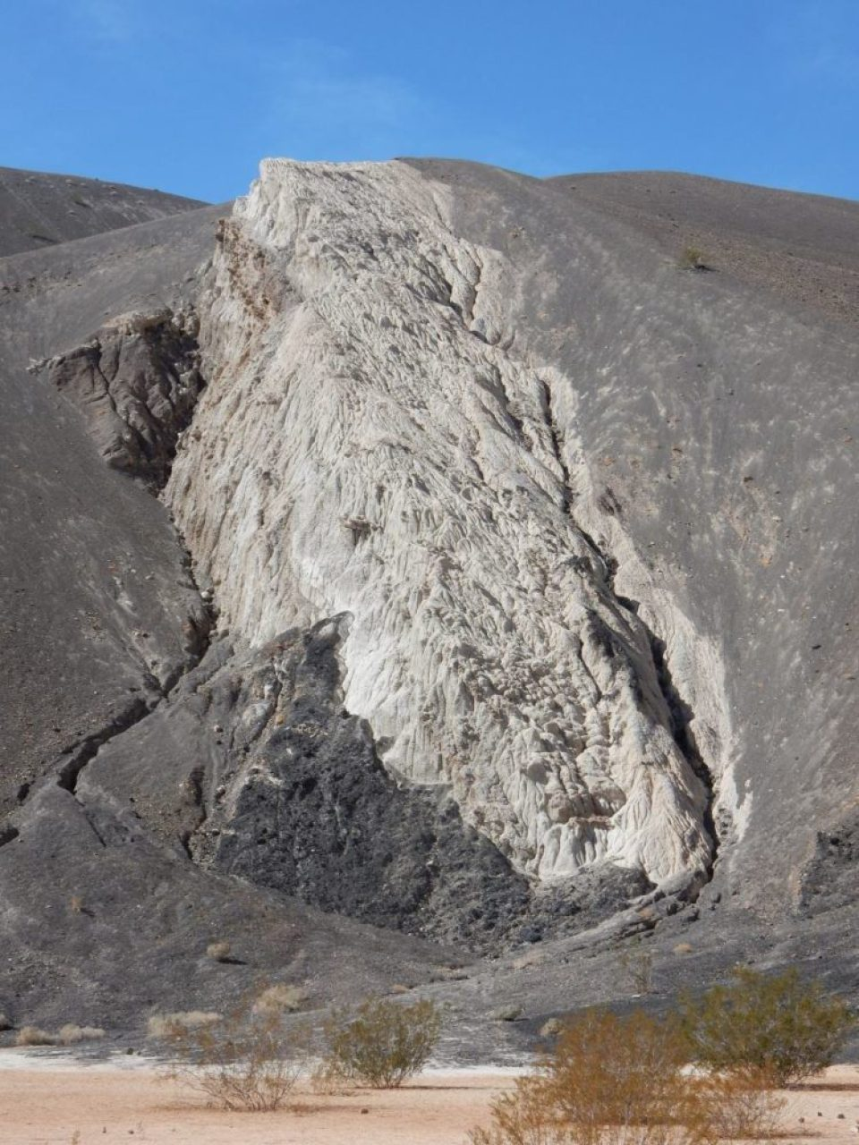 The cool rock formation best seen from within the crater.