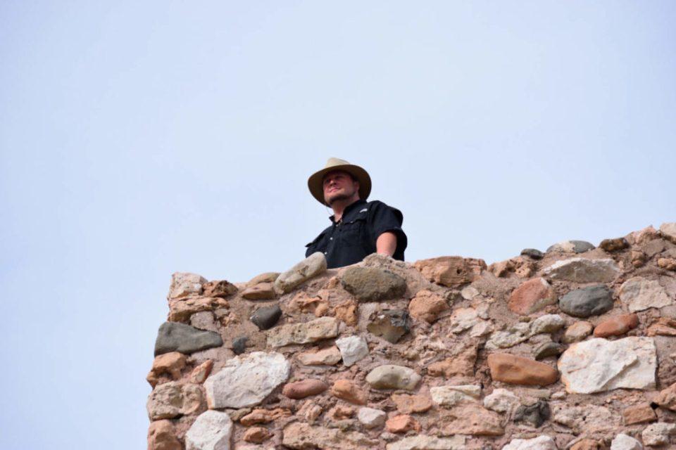 Sig atop Tuzigoot Tower