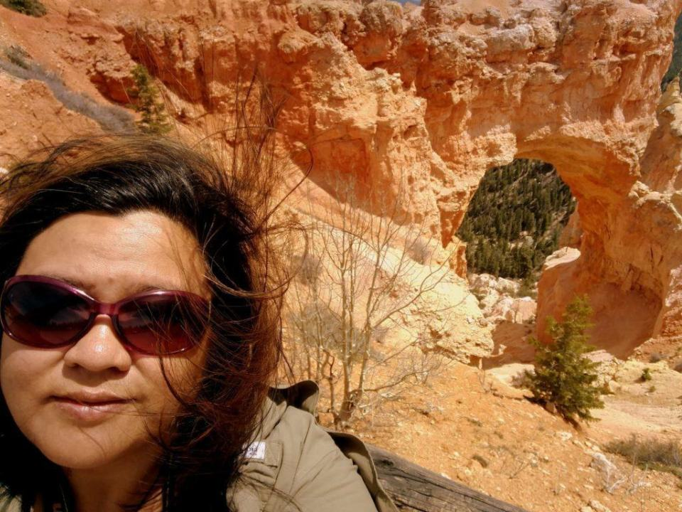 Obligatory Selfie at Natural Arch, Bryce Canyon National Park