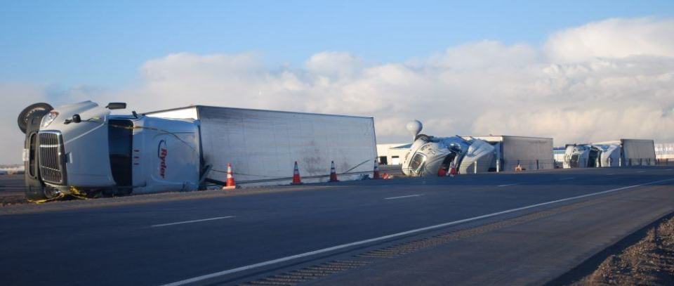 Wind and trailers, not a good mix.