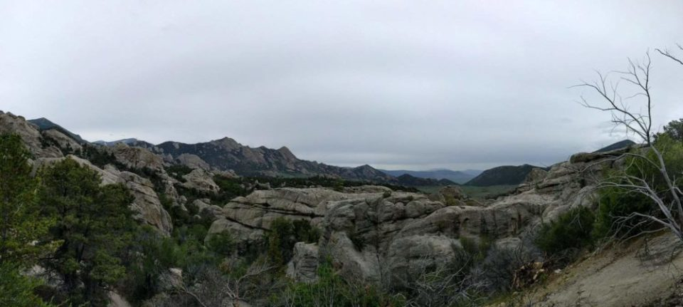 Near the Trail Head of Creekside Trail. Looking out toward the Great Basin