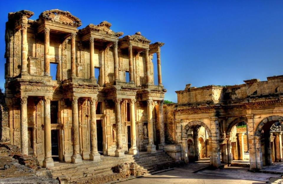 The ruins at Ephesus, among many ancient sites I hope to one day visit in person.