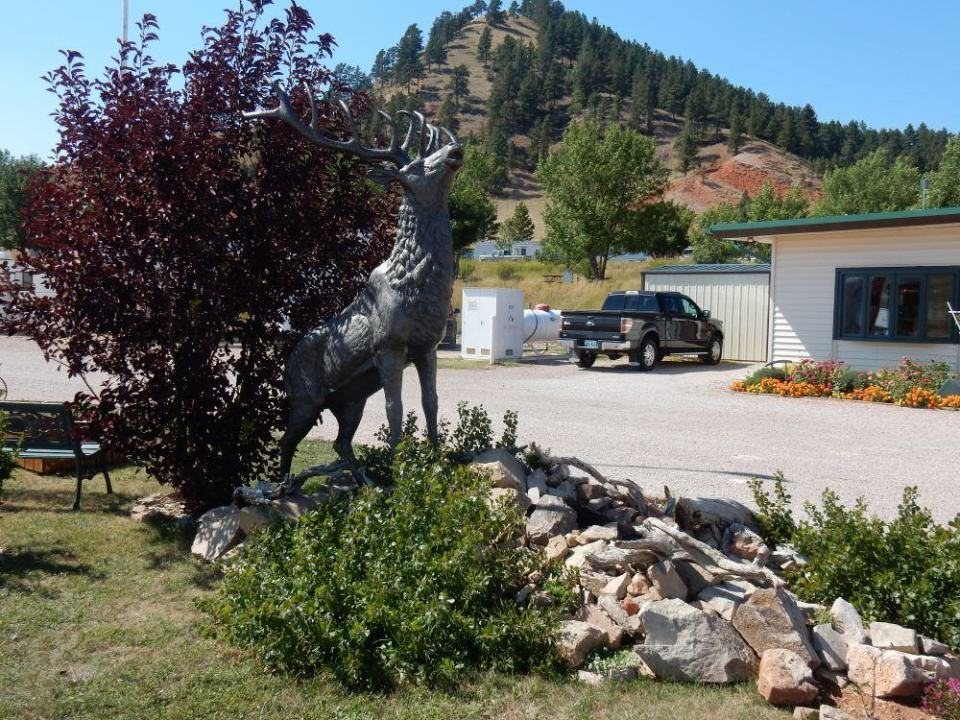 They have a this cool elk statue and fountain out front.