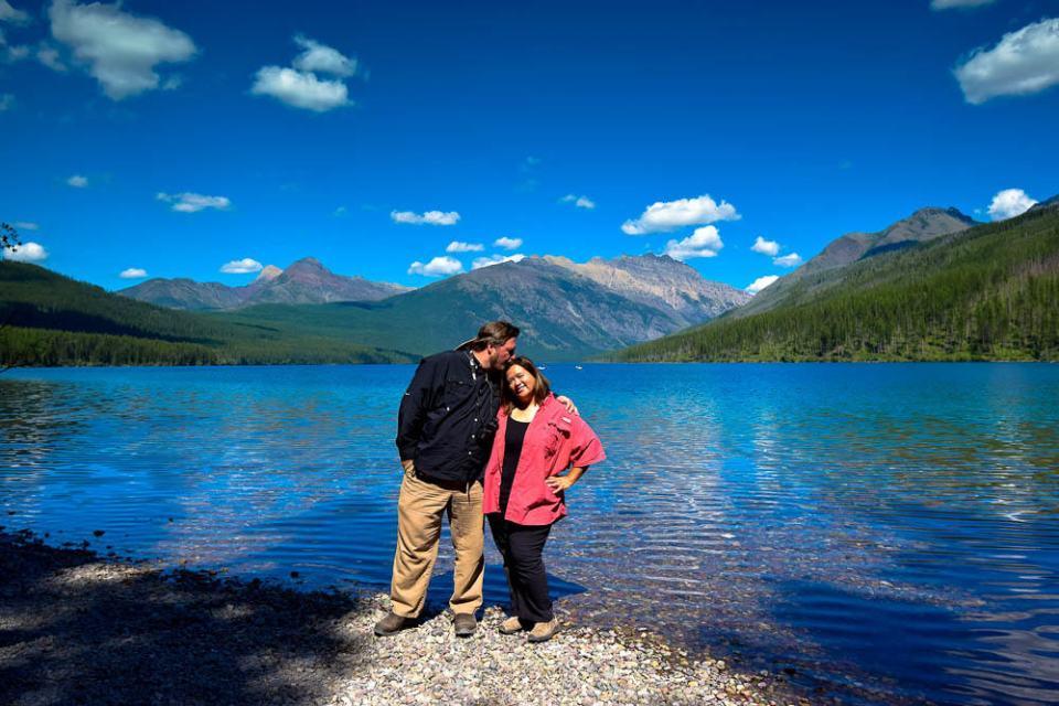 Us at Kintla Lake