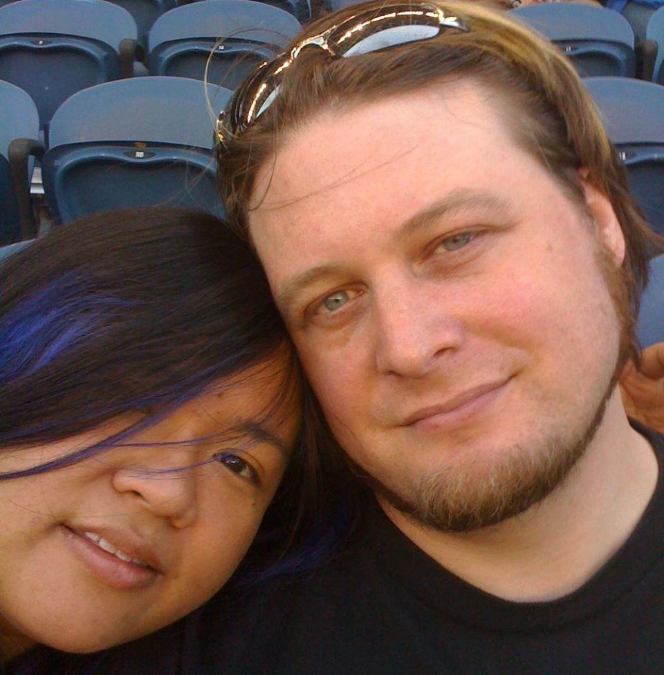 In love at the Safe-co Field stadium in Seattle.