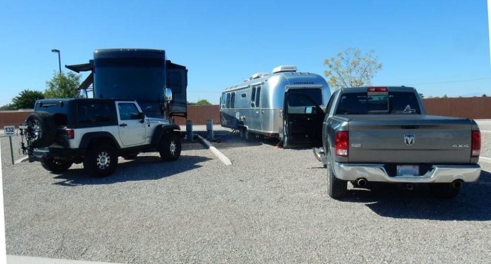 Our Airstream along with a neighbor at Town and Country RV.
