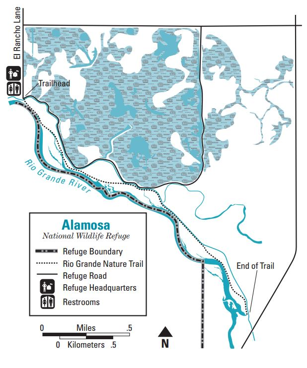 Alamosa National Wildlife Refuge Map
