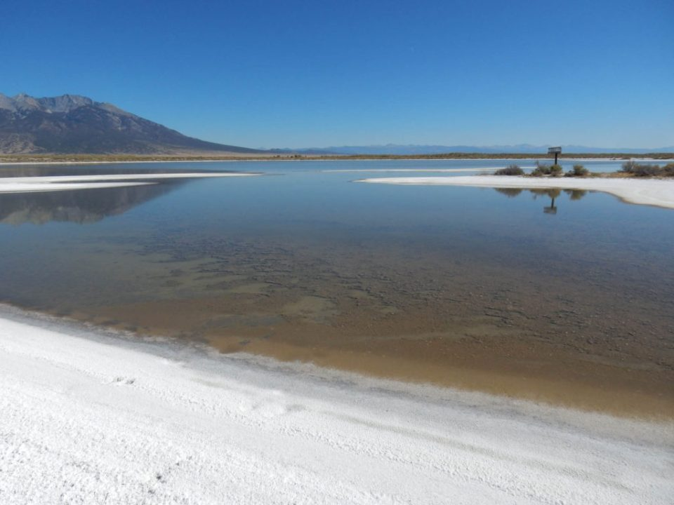 Blanca Wetlands Slowly Drying Pond