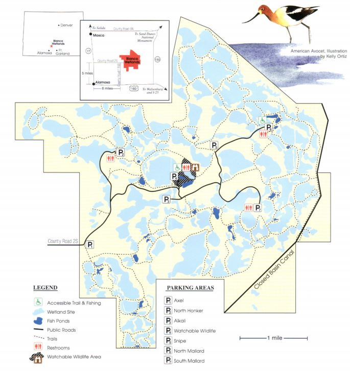 Blanca Wetlands Map