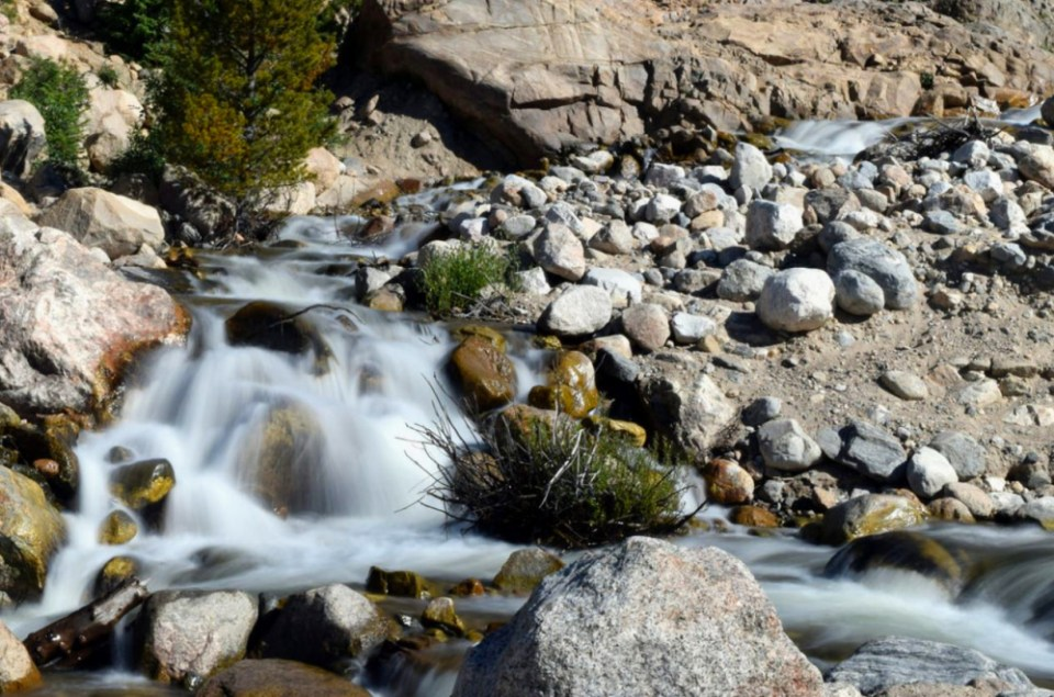 Stream within the alluvial fan