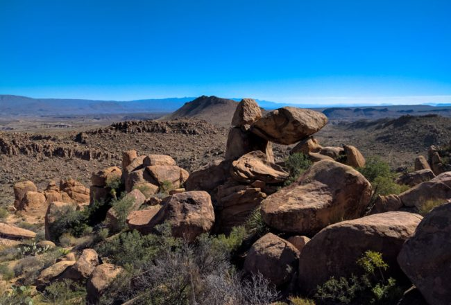 Balanced Rock at the end of Grapevine Hills Trail in Big Bend National Park