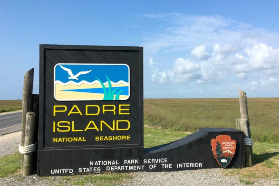 Padre Island National Seashore Sign