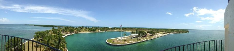 Pano view from Boca Chita Lighthouse