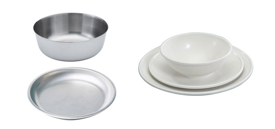 Metal and Plastic Plates and Bowls