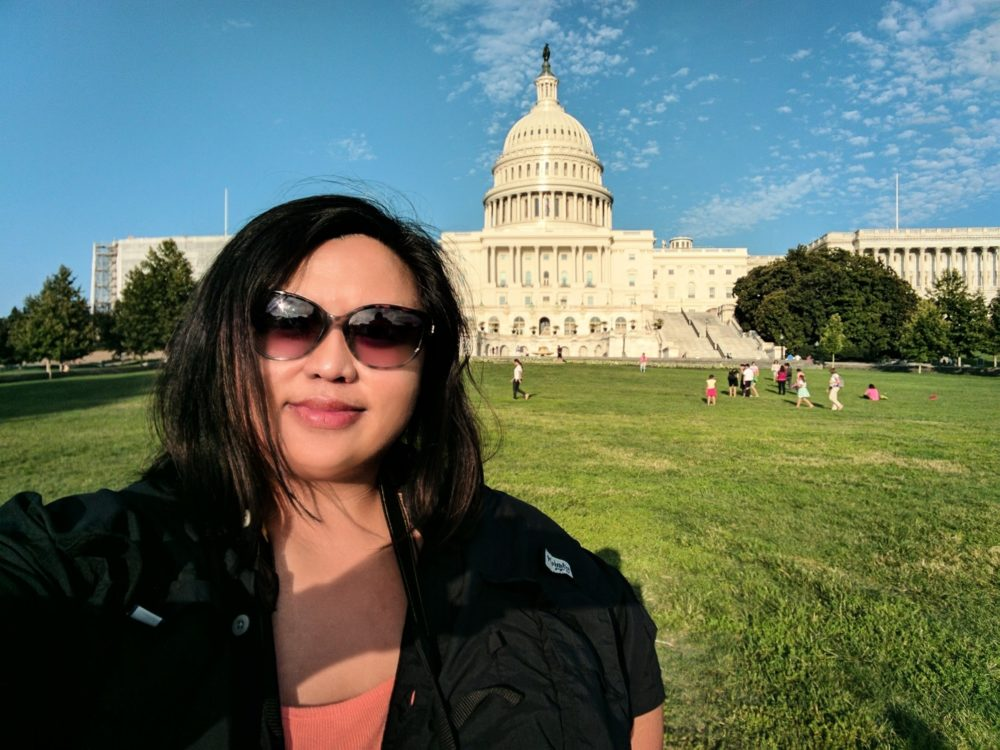 In front of the US Capitol
