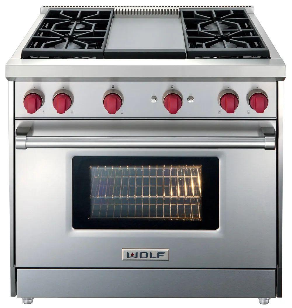 wolf 36 inch single oven gas range