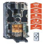"""TOMSHOO Trail Camera 16MP 1080P Wildlife Hunting Camera with Motion Activated Night Vision 20m,0.2s Trigger Speed,2.4""""LCD Screen and 130° Wide Angle Lens,IP55 Waterproof Design for Wildlife Hunting"""