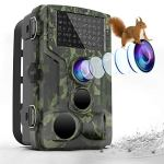 [2019 NEW]Trail Camera 1080P Waterproof Hunting Scouting Cam for Wildlife Monitoring with Motion Activated Night Vision up to 65ft/20m, 120°Detect Range, 36pcs 940 Infared LEDs, 0.3s Trigger Speed