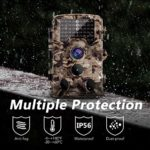 AIMTOM 16MP 1080p Trail Game Camera – Fastest 0.2S Trigger Full HD Waterproof Deer Hunting Cameras – Motion Activated Infrared LED Flash 120° Wide Angle For Wildlife Nature Shots Outdoor Security Cams