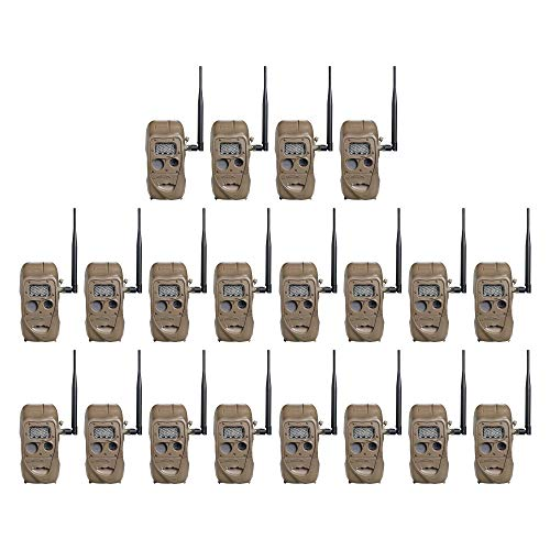 Cuddeback CuddeLink 20MP Long Range Wireless Hunting Game Trail Camera, 20-Pack
