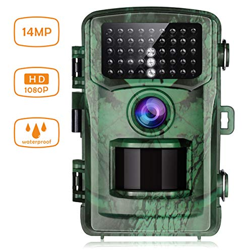 TOGUARD Trail Camera 14MP 1080P Game Hunting Cameras with Night Vision Waterproof 2″ LCD IR LEDs Night Vision Deer Cam Design for Wildlife Monitoring and Home Security