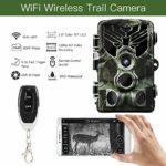 Jiaji Trail Camera,20MP 1080P Wireless Hunting Camera with Night Vision Motion Activated IP65 Waterproof 2.0 LCD for Outdoor Wildlife, Garden, Animal Scouting and Home Security Surveillance