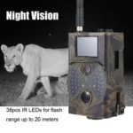 RHG Infrared Night Vision Wildlife Trail Camera,Trail Game Camera with Night Vision Waterproof 16MP 1080P for Wildlife Monitoring with 120°Detecting Range Motion Activated Night Vision