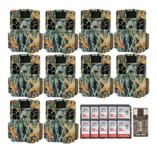 Browning Trail Cameras Dark Ops HD Pro X 20MP Game Cams, Camo, with Ten Memory Cards and Reader Kit Bundle