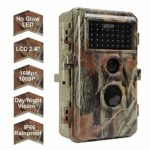 Folgtek Trail Camera Wildlife Cam Game Cam 16MP 1080P Night Vision Motion Activated, IP66 Waterproof, Password Protected, Short Trigger Time, 2.4″ LED (Red X 2)