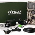 Foxelli Trail Camera – 20MP 1080P HD Wildlife Scouting Hunting Camera with Motion Activated Night Vision, 120° Wide Angle Lens, 42 IR LEDs & 2.4″ LCD screen, IP66 Waterproof Game Camera, SD card incl.