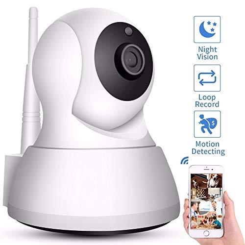 Home Security IP Camera Wi-Fi 1080P 720P Wireless Network Camera CCTV Camera Surveillance P2P Night Vision Baby Monitor (Plug Type : UK Plug, Sensor Size : 1080P Add 16G Card)