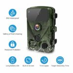 LETSCOM 14MP Trail Game Camera 0.4s Trigger Speed, Waterproof HD Wildlife Scouting Cam 42 Low-Glow IR LEDs, 120° Wide Angle for Hunting and Outdoor Surveillance (Green)