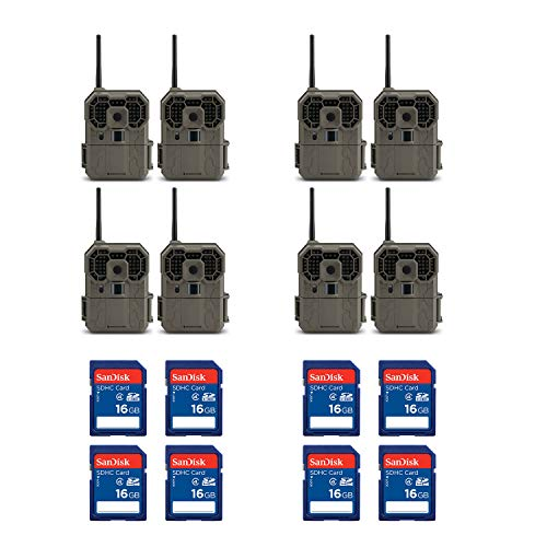 Stealth Cam GXW 12MP 1080p HD iOS & Android Game Camera (8 Pack) + 16GB SD Cards