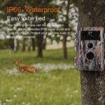 [Upgraded] Night Vision 16MP 1080P Game & Trail Hunting Camera Wildlife Deer & Field Cam Motion Activated No Glow Infrared IP66 Waterproof Password Protected Photo Multi-Shot & Video Model Time Lapse
