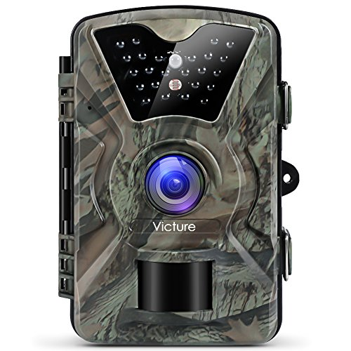 Victure Trail Camera 1080P 12MP Wildlife Camera Motion Activated Night Vision 20m with 2.4″ LCD Display IP66 Waterproof Design for Wildlife Hunting and Home Security