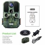 Dr.meter Wildlife Hunting Camera 24MP 1080P HD Trail Game Camera IP66 Waterproof 120° Wide Angle Lens Scouting Monitoring Cam with 45-LED Night Vision, 2.4″ LCD, IR Sensor