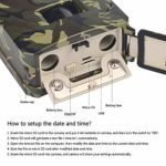 FUZHEN Mini Trail Camera,1080P HD Game Hunting Scouting Cam with 3 Infrared Sensors,120°Detecting Range Motion Activated Night Vision for Wildlife Watching