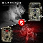Tovendor Trail Cameras with Metal Box and 32GB Cards, 20MP Hunting Camera with Night Vision Motion Activated Waterproof