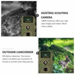 YARNOW Hunting Camera Plastic Trail Game Camera 0.8s Trigger Time 1080P Night Vision Camera Outdoor Wildlife Accessories