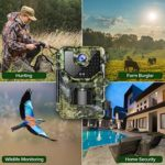 """1080P 16MP Trail Camera, Hunting Camera with 120°Wide-Angle Motion Latest Sensor View 0.2s Trigger Time Trail Game Camera with 940nm No Glow and IP66 Waterproof 2.4"""" LCD 48pcs for Wildlife Monitoring"""