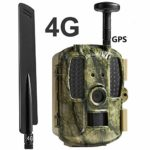 Generic002 4G Infrared Night Vision Wildlife Camera, IP66 Waterproof Hunting Camera, 0.2s Trigger Speed 2.0″ LCD 120° PIR Sensors, for Wildlife Monitoring, Garden, Home Security (Color : 128G)