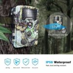 KTYX Game Camera, 16MP 1080P Hunting Wildlife Camera with 3 Infrared Sensors 42Pcs IR LEDs Night Vision 0.2S Motion Activated IP56Waterproof 2.4″ LCD Hunting Camera