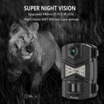 """WOSODA Trail Camera, 16MP 1080P Hunting Game Camera, Wildlife Camera with Upgraded 850nm IR LEDs Night Vision 260ft, 2.0""""LCD for Home Security Wildlife Monitoring/Hunting"""