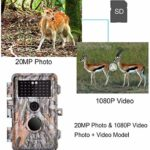 BlazeVideo 2-Pack HD 16MP Night Vision Hunting Video Trail Wildlife Cameras, Hunters Game Camera Cam Waterproof Motion Sensor Activated with 40pcs IR LED PIR Up to 65ft, Video Record, 2.36″ LCD Screen