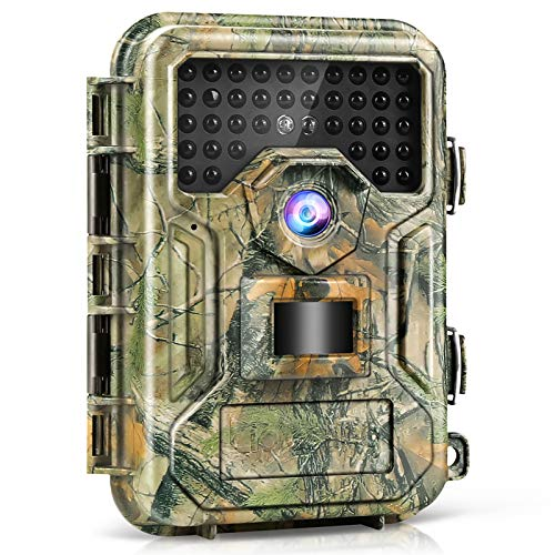 Liplasting Trail Game Camera 16MP 1080P Waterproof Scouting Hunting Trap Cameras with No Glow Night Vision Up to 100ft 0.3s Trigger Time Motion Activated for Wildlife Monitoring and Home Security