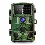 NEREIDS NET 12MP Trail Camera, Hunting Camera with 32GB TF, Trail Hunting Game Camera Infrared Sensor 0.2S Motion Activated IP66 Waterproof Outdoor Wildlifes Camera 2.4″ LCD Night Vision Army Green