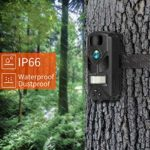 OUTDOOR EXPERT Trail Camera 12MP 720P Mini Hunting Camera with 940nm IR LEDs, Activated Night Vision, 60ft PIR Distance, 80ft IR Illumination Digital Game Cam for Wildlife Scouting and Home Security
