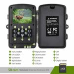 Tovendor 12MP Trail Camera, No Glow Night Vision Hunting Game Camera with 90° Motion Detection Range, 0.2s Trigger Speed, IP66 Waterproof